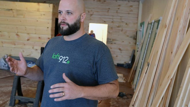 Loft 912 owner, Matt Brooks, talks about his plans for the future Monday, Jan. 4, at Loft 912 along Military Street in Port Huron.