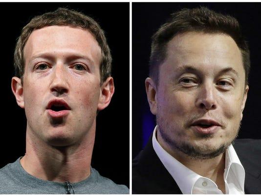 Mark Zuckerberg,Elon Musk