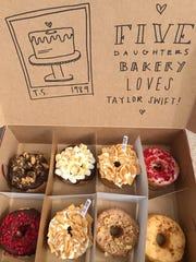 Five Daughters Bakery provided doughnuts for Taylor Swift and her crew when she performed in Nashville recently.