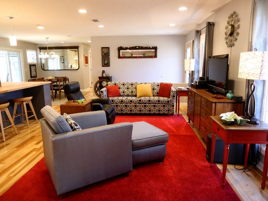The living room at the home of Wanda and Darnell Thompson