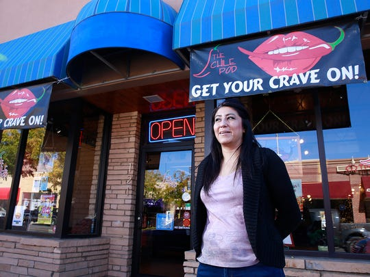 Monica Schultz, owner of The Chile Pod Restaurant in downtown Farmington, learned the business while working in an eatery owned by her aunt and uncle in Cuba, N.M.