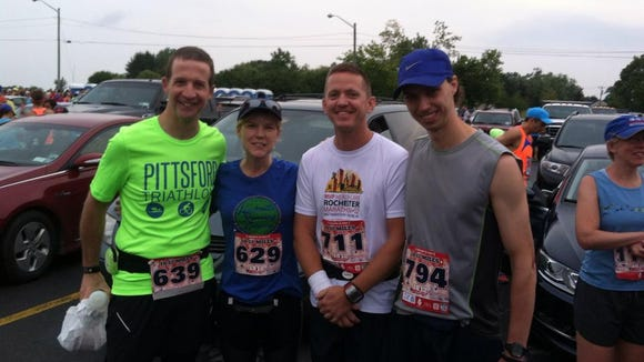 From left, Mark, Traci, Ray and me before the race.