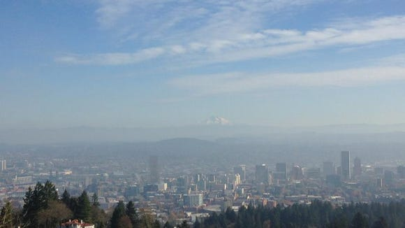 From Pittock Mansion, you can catch a wonderful view of downtown Porland.