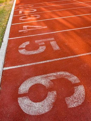 Start positions of running track