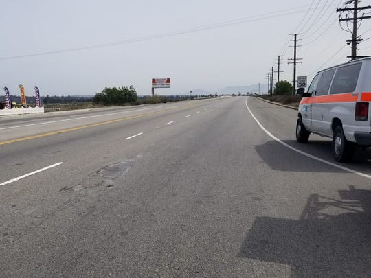 Portions of Highway 118 in Saticoy were closed Friday