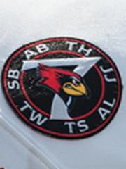 The Redbird 7 logo, worn on players' jerseys, features