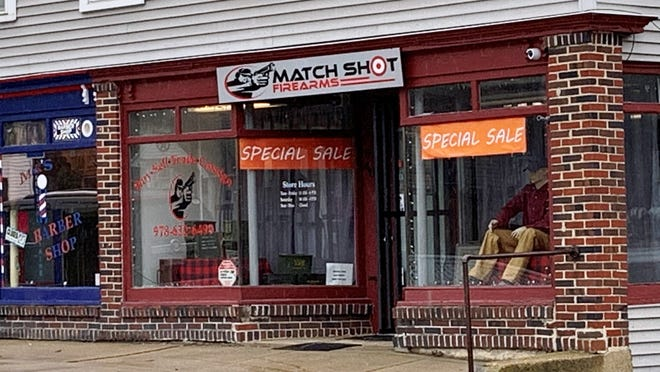 The owner of Match Shot Firearms in Gardner says the store saw record sales in the early days of the pandemic, when ths photo was taken.