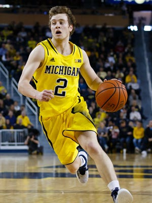 Michigan Wolverines guard Spike Albrecht had right hip surgery on April 8.