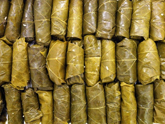 Dolmathes, or stuffed grape leaves, are a classic Greek dish.