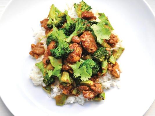 Peanut Chicken Broccoli