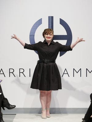 Actress Jamie Brewer walks the runway during the 'Role Models Not Runway Models' Carrie Hammer show.