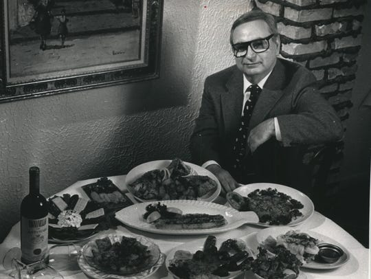 Renowned restaurateur Arthur Maniaci sits in 1989 with