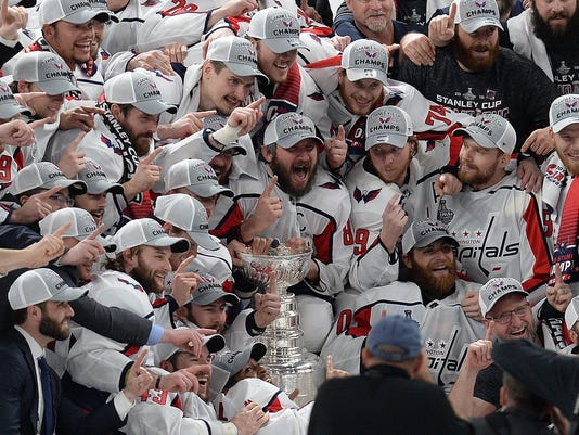 USP NHL: STANLEY CUP FINAL-WASHINGTON CAPITALS AT S HKN VGK WSH USA NV