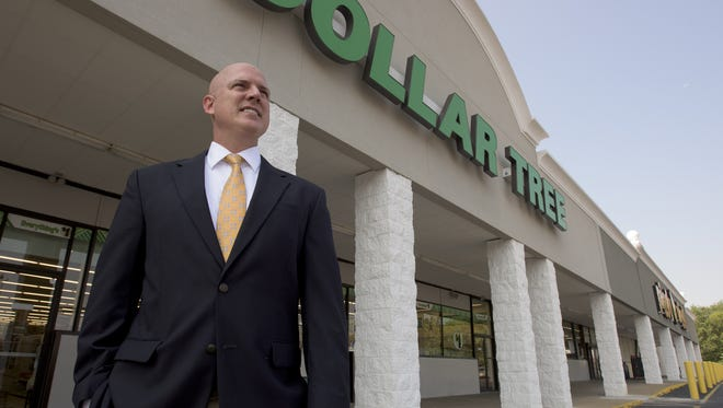Lee Willcoxon stands in front of the new Dollar Tree in his Faircourt Shopping Center on Fairview Avenue in Montgomery, Ala. on Friday September 4, 2015.