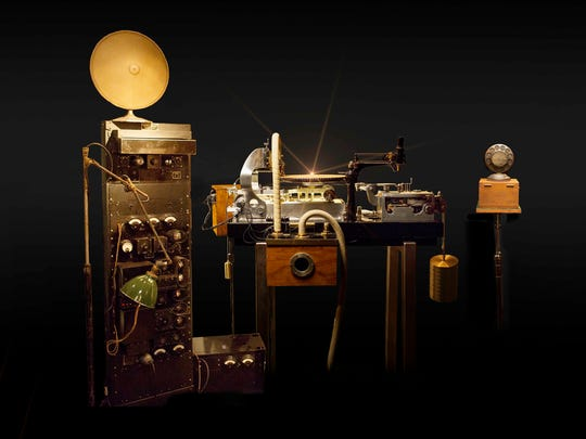 Nicholas Bergh's reassembled Western Electric-style recording system, with a Scully lathe.