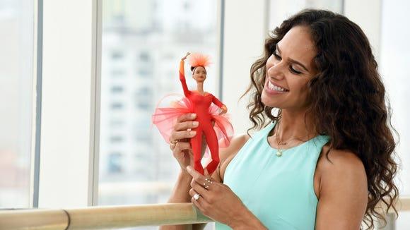 Misty Copeland unveils her new Barbie doll.