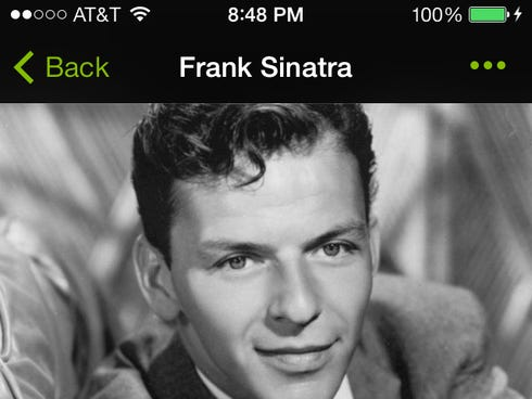 A screen grab from Spotify's mobile app.