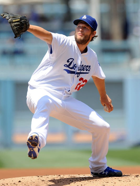 548084f9c USP MLB  SAN DIEGO PADRES AT LOS ANGELES DODGERS S  BBA OR BBN . Dodgers  starting pitcher Clayton Kershaw ...