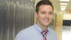 Memorial High School teacher Kevin English is a Touchstone Award recipient.