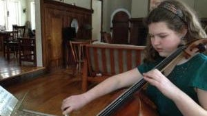 Young cellist.