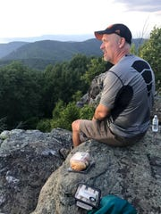 Dwayne Williams accompanied his wife, Jan, on her only overnight hike this summer along the Appalachian Trail.