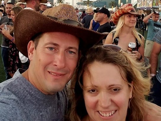 Bill Wolfe Jr. and his wife Robyn were celebrating