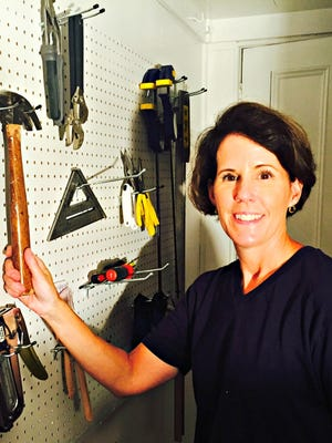 Brooke Fedigan now has a place to hang her hammer, along with other tools that were being misplaced. This pegboard solution also works in the kitchen or pantry for pots, pans and some utensils.