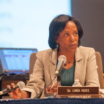 BCPS Superintendent Linda Hicks' performance evaluation is on the Board of Education's agenda tonight.