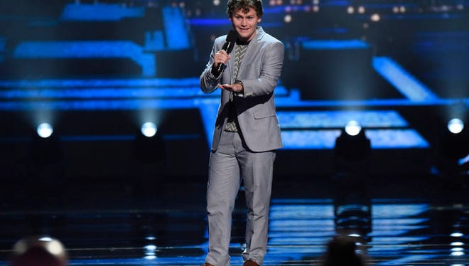 "Indy native Drew Lynch performs in the finals Tuesday of ""America's Got Talent."""