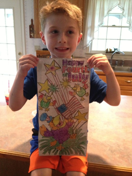 Coloring page contest winner is Lane Ruppert.