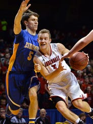 Annandale's Brock Fobbe (3) drives the ball past Esko's