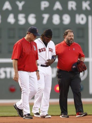 May 4, 2015; Boston, MA, USA; Boston Red Sox left fielder