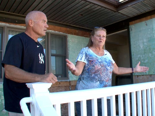 Nearly five years after Superstorm Sandy hit, Mark and Diane Wisniewski are still in the process of rebuilding their Toms River shown October 29, 2017.  They were one of the many victims of fraudulent contractor Jamie Lawson.