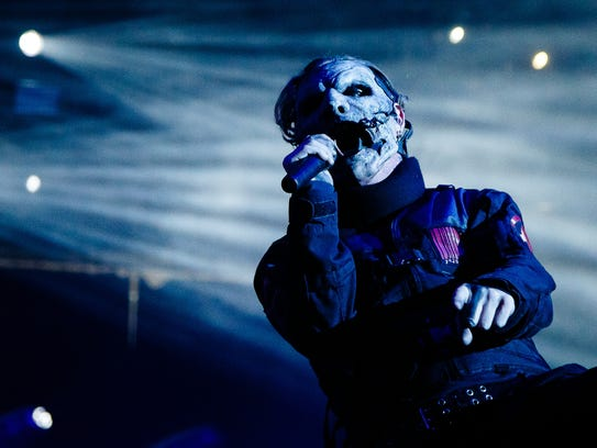 Corey Taylor of Slipknot, pictured in Des Moines at Wells Fargo Arena on Friday, August 5, 2016.