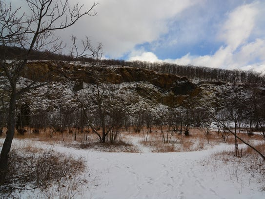 Take a moment to explore the quarry on your way up