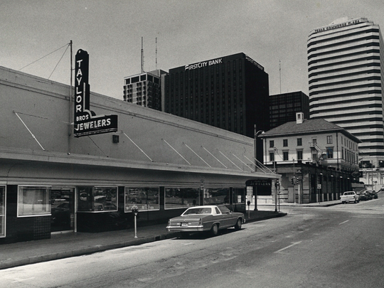 Taylors Brother Jewelers, 624 N. Mesquite Street, was open from 1928 until 1987. Chad and the late Don McGill bought the building in 2004. Fourteen years later, the back half of the building will be The Bay Jewel event center.