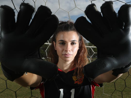 Leon junior goalkeeper Clare Keenan is the 2018 All-Big