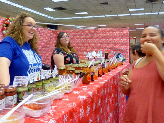 Lots of food sampling was offered at the jubilee.