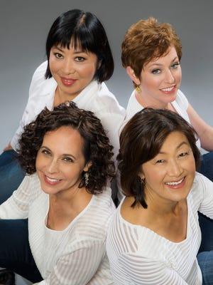 The Cassatt String Quartet comprises (from top left) violinists Muneko Otani and Jennifer Leshnower, cellist Elizabeth Anderson and violist Ah Ling Neu.