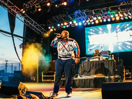 Young MC performing live at the I Love The 90's concert