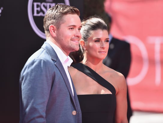 NASCAR drivers Ricky Stenhouse Jr. and Danica Patrick