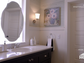 "A look at the bathroom on HGTV's ""Home Town"""