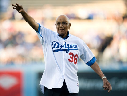 Dodgers legend Don Newcombe died on Tuesday.