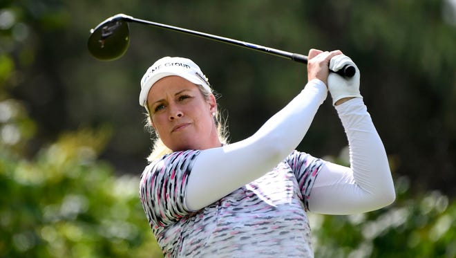 Brittany Lincicome at thee Canadian Pacific Women's Open golf tournament in August 2017.