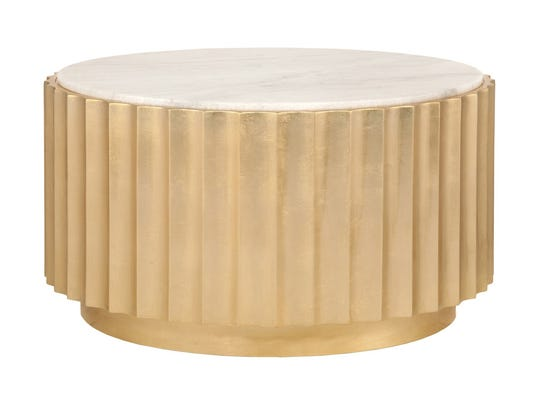 Make is bold and gold. This coffee table is available