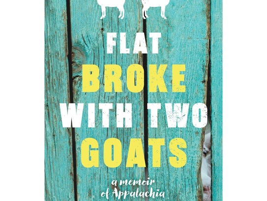 """""""Flat Broke with Two Goats"""" book cover."""