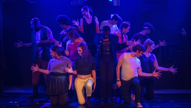 """The cast of Street Theatre Company's """"Pippin."""""""
