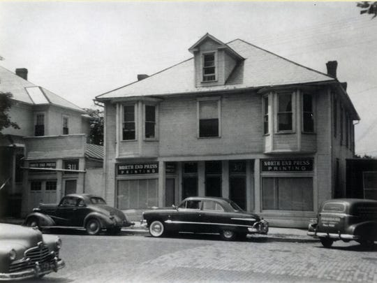 North End Press occupied 311, 315 and 317 N. Broad St. as shown in this photo around 1935.