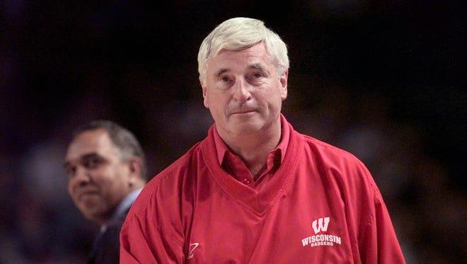 Bob Knight in Wisconsin red.