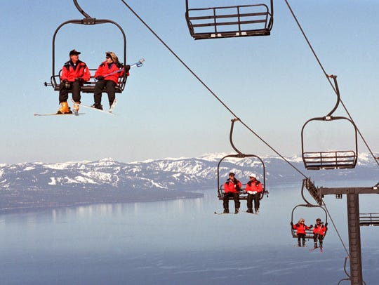 An RGJ file photo of a chair lifts at Heavenly ski resort in South Lake Tahoe.